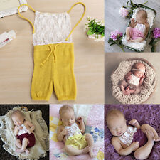 Newborn Infant Baby Girls Sleeveless Romper Jumpsuit Lace Outfits Clothes Cute