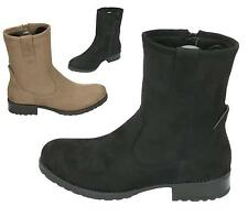 LADIES WOMENS WORKER COMBAT BIKER MILITARY FLAT ZIP UP ANKLE BOOTS SHOES SIZE