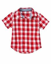 NWT Gymboree Boys Home Run Kid Plaid Shirt Size 12-18M XS S(5-6) & L(10-12)