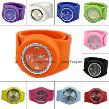 Unisex Silicone Wristwatch Slap Strong Watch Various Colors Bracelet Can Fit All