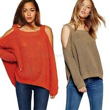 Lady Oversized Knitted Sweater Batwing Sleeve Tops Cardigan Loose Outwear Coat