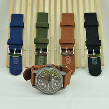 Military Nylon Wrist Watch Band 18mm 20mm 22mm 24mm Replacement Strap Refined