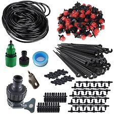 "50-100ft Irrigation System Self Watering Drip Garden DIY Kit For 1/4"" Blank Hose"