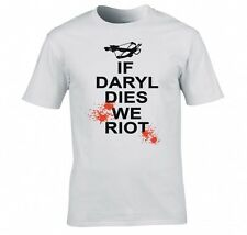 "THE WALKING DEAD ""IF DARYL DIES WE RIOT"" T SHIRT"