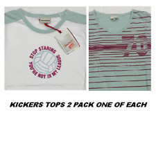 WOMENS  LADIES KICKERS 2 PACK T SHIRT  TOP BNWT SIZE 10 12 14