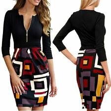 Sexy Slim Women Bodycon Pencil Mini Dress Office Ladies Special Patchwork Dress