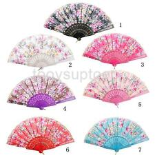 Wedding Party Gift Handmade Chinese Flower Pattern Folding Lace Hand Fan