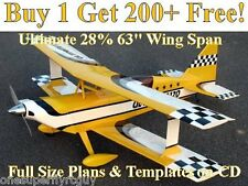 "Ultimate 63"" WS Giant Scale RC Airplane Plans & Templates on CD in PDF Format"