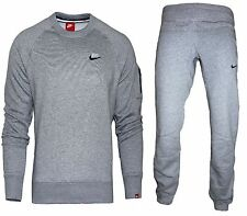 Men Nike Crew Neck Foundation Fleece Tracksuit Sports Sweat Top Joggers Full Set