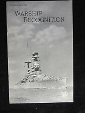 Warship Recognition Real Photographs Southport Stapled PBK