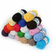 50g Bamboo Crochet Cotton Wool Yarn Smooth Knitting Skein Baby Soft Knit Cloth