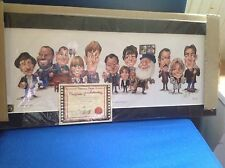 Collector's only fools and horses print with certification.