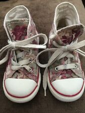 Infant Girls Size Uk 8 Converse All Star Trainers Boots