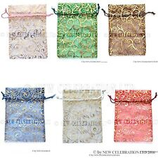 10pcs Luxury Organza Gift Bags 18x13cm Wedding Favours Party Jewelley Pouches