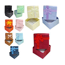 Hot Sell Lots 5 Pcs Jewellery Jewelry Gift Box Case For Ring Square Colorful QLL