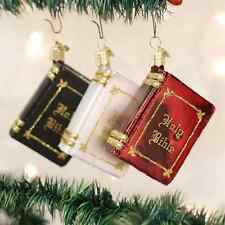 *The Bible - 3 Colors* Chruch (32085) Old World Christmas Ornament - NEW