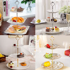 3 Tier Wedding Accessory Cake Plate Stand Crown Handle Rod+Fitting Plate Stand
