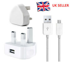 UK Mains Charger Wall Plug+ Micro USB Cable For Amazon Kindle Fire HD Paperwhite