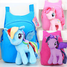 Kids Girls Baby 3D Plush Backpack Doll Toy Travel Shoulder School Bag Rucksack