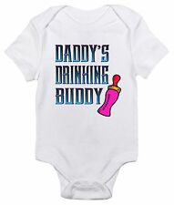 Daddy's Drinking Buddy Funny One-piece Baby Bodysuit Cute Baby Clothes