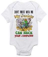 My Daddy Can Hack Your Computer One-piece Baby Bodysuit Cute Baby Clothes