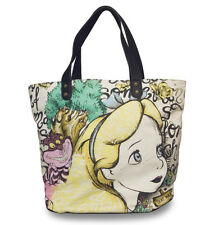 Disney Loungefly Alice In Wonderland Alice And Cheshire Canvas Tote Bag