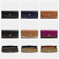 New Coach F54022 F54008 Slim Envelope Wallet Signature Crossgrain Leather NWT