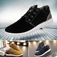 Men Spring lace up shoes casual sneakers Low top suede Leather Sports Man Shoes