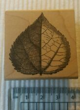 NEW single leaf rubber stamp greeting card making