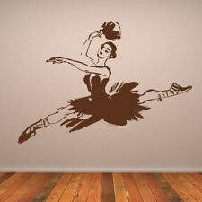 Leaping Ballet Dancer With Fan Wall Sticker Sports Wall Decal Art