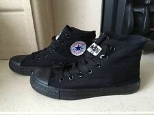 Converse All Star Black Hi Top Trainers Size UK 6