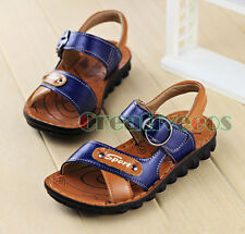 Fashion Kids Summer Korean Girl Boys Leather Sandals Slippers Beach Casual Shoes