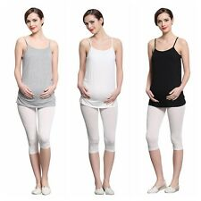 Lady's Pregnant Strappy Vest Blouse Tops Shirt Maternity Tank Top Camisole Cami