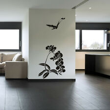Flowers And Bird Decorative Flowers And Trees Wall Stickers Home Decor Art Decal