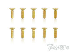 T-Work's M3 Gold Plated Hex Countersink Screw ( Class 10.9 )