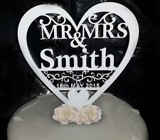 Personalised Wedding Cake Topper Table Decoration Toppers White Gold Silver