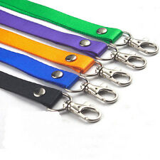 2x Neck Strap Lanyard Safety Breakaway For ID Name Badge Holder Keys Metal Clip