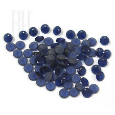 Blue Color Crystal Glass AA Quality Calibrated Size Round Shape gemstones