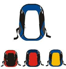 Back to School Sports Youth Backpack  Blue Black White Yellow Soccer Basketball