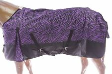 600D Waterproof Turnout MEDIUM WEIGHT HORSE WINTER BLANKET-PURPLE ZEBRA
