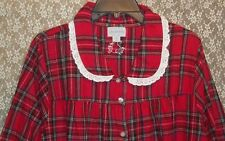 Lanz of Salzburg LONG Soft Cotton Flannel Nightgown NWT Red Plaid Plus 1X 2X 3X