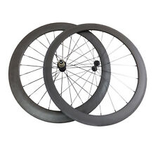 50mm+60mm Clincher Carbon Wheels Bicycle Cycling Road Bike Ultra Light Wheelset