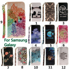 Fashion Wallet Card holder Stand Flip PU Leather Cover Case For Samsung Galaxy