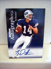 2012 Skybox Certified Autographics Ty Detmer Auto Football BYU Cougars Card