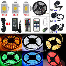 5M 300LED SMD3528/5050/5630 Flexible Strip Lights Home Xmas Party +Remote +Power