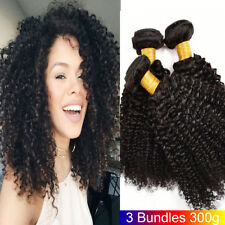 3 Bundles Brazilian Virgin Hair Curly Weave Human Hair Extensions Natural Black