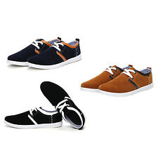 sports men's shoes canvas sneaker flats shoes lace up suede casual shoes WS