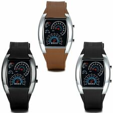 Mens Fashion Stainless Steel Luxury Silicone Strap Analog Quartz LED Wrist Watch
