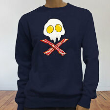 Dead Breakfast Eggs Bacon  York Scramble Eat Womens Navy Sweatshirt