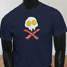 Dead Breakfast Eggs Bacon  York Scramble Eat Mens Navy T-Shirt